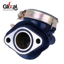 Glixal manopla de admissão de carburador 125cc 150cc gy6 152qmi o'jcl vento znen jonway duktao moped atv go-kart (1 porta a vácuo)