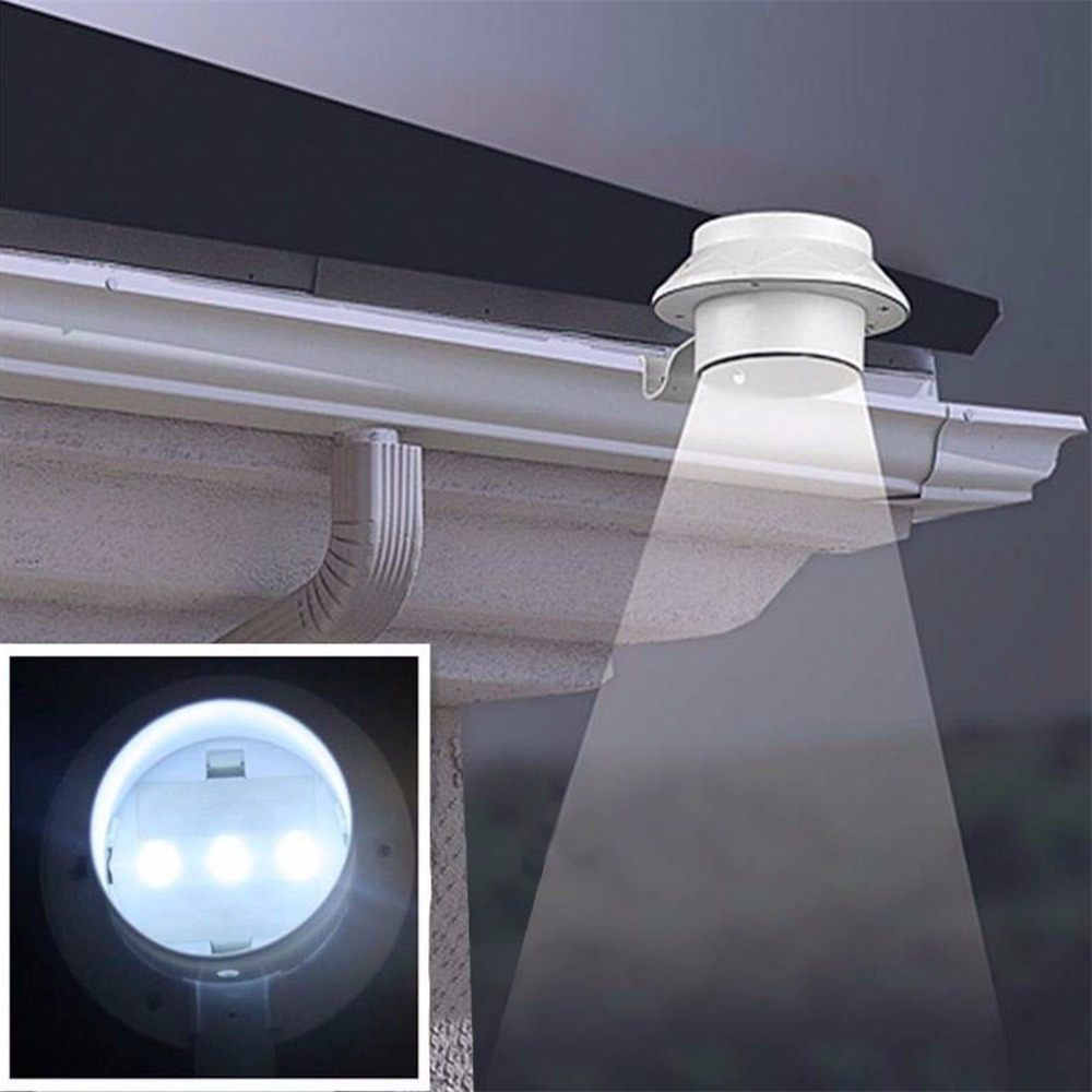 Hot 3 LED Solar Energy Saving Light For Outdoor Garden Landscape For Yard Fence Gutter Wall Roof Backyard Lighting Hand Lamp