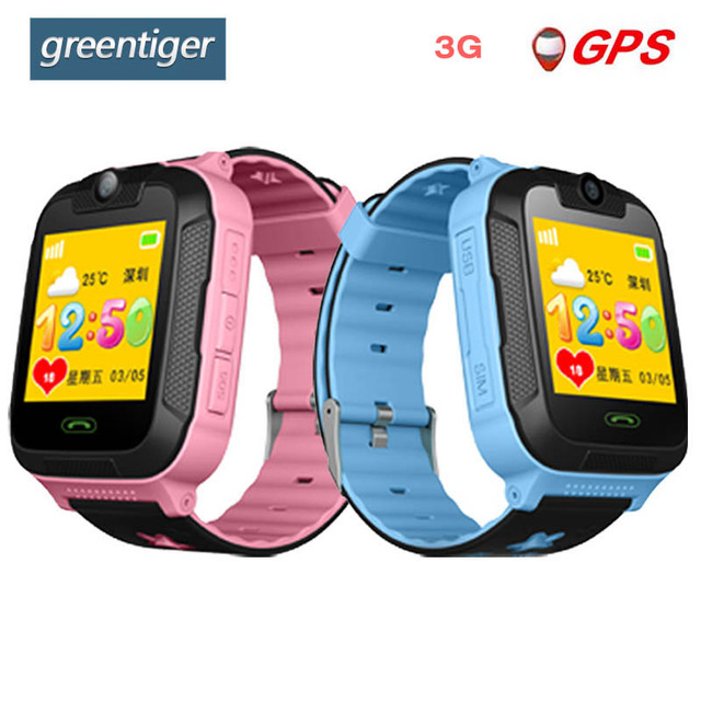 Greentiger TD07S Smart Kids Watch 3G Network GPS LBS Wifi Tracker Location SOS Dial Call Camera Smart Children Watch IOS Android