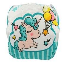 Pañal de baño reutilizable impermeable pañal cubierta entrenamiento pantalones Ohbabyka unicornio pañal pañales natación pañales