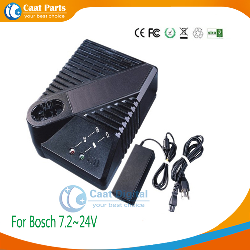 Boutique  Power Tool Battery Chargers for Bosch 7.2V~24V Ni-CD and Ni-MH batteries,Including external adaptor as power supply for bosch 24v 3000mah power tool battery ni cd 52324b baccs24v gbh 24v gbh24vf gcm24v gkg24v gks24v gli24v gmc24v gsa24v gsa24ve