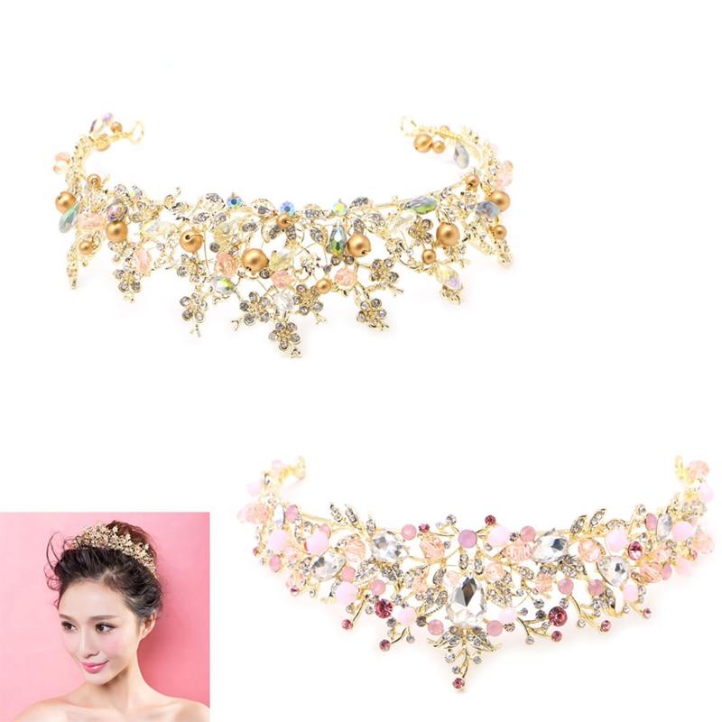 1pcs Bridal Princess Austrian Rhinestone Crown Hair Tiara Wedding Crown Veil Headband