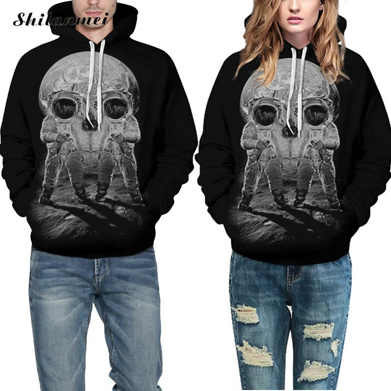 Women Men Sweatshirts Skeleton Digital Print Hooded Hoodie Spring Autumn Coats Long Sleeve Jackets women Clothes