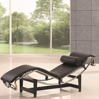 U BEST Classic leather chair LC4 chaise lounge chair home furniture Indoor Beach Recliners Repos Chaise living