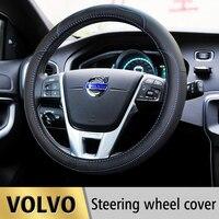 Leather Car Steering Wheel Cover Case For Volvo S60 XC60 XC90 S80 V70 V40 S40 V50