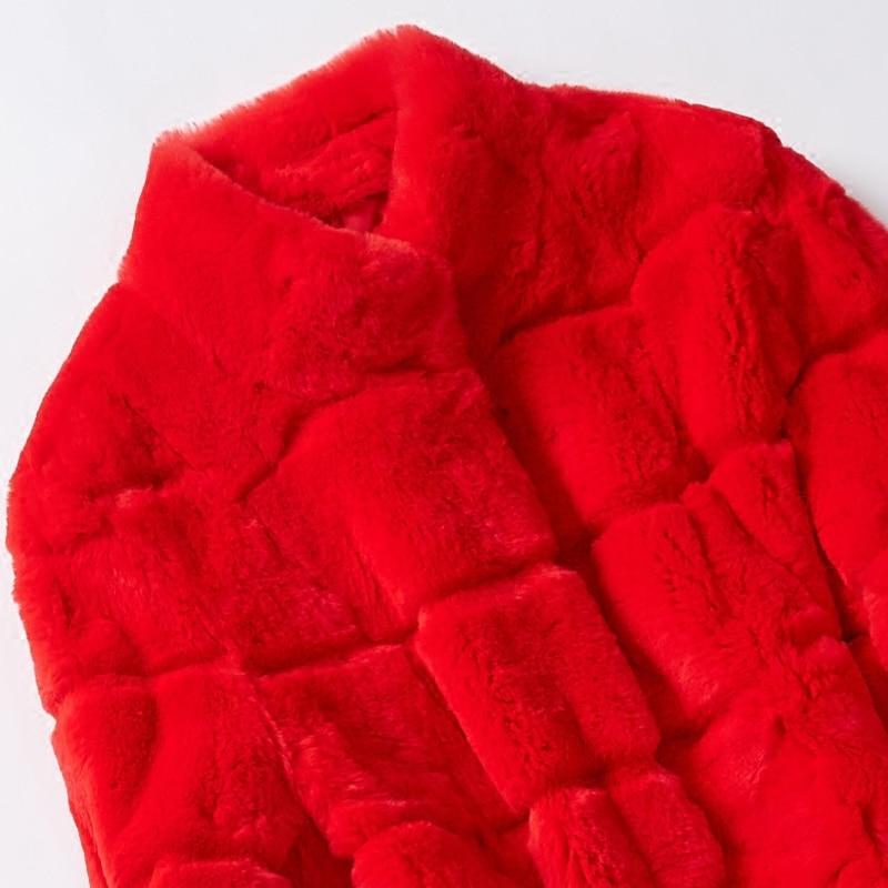 Hiver Vraie Red De Fourrure Femmes Manteaux Nouveau 2019 Grande Lapin Naturel Oversize Rex Taille Longue zxSTvCn