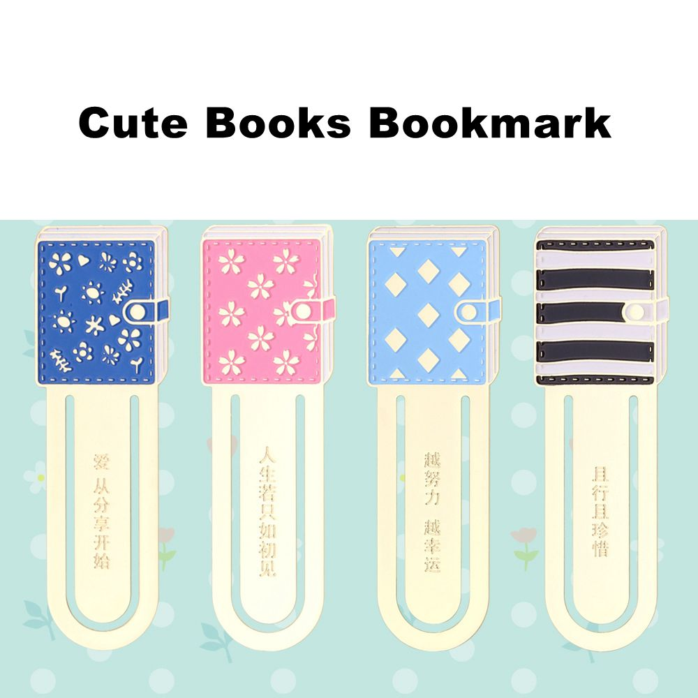 Colorful Books Lovely Metal Bookmark 7.4*3.6cm DIY Journal Reading Supplies Free Shipping