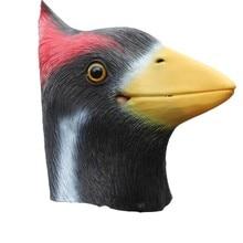 Halloween Cosplay Latex Bird Full Head Animal Woodpecker Masks