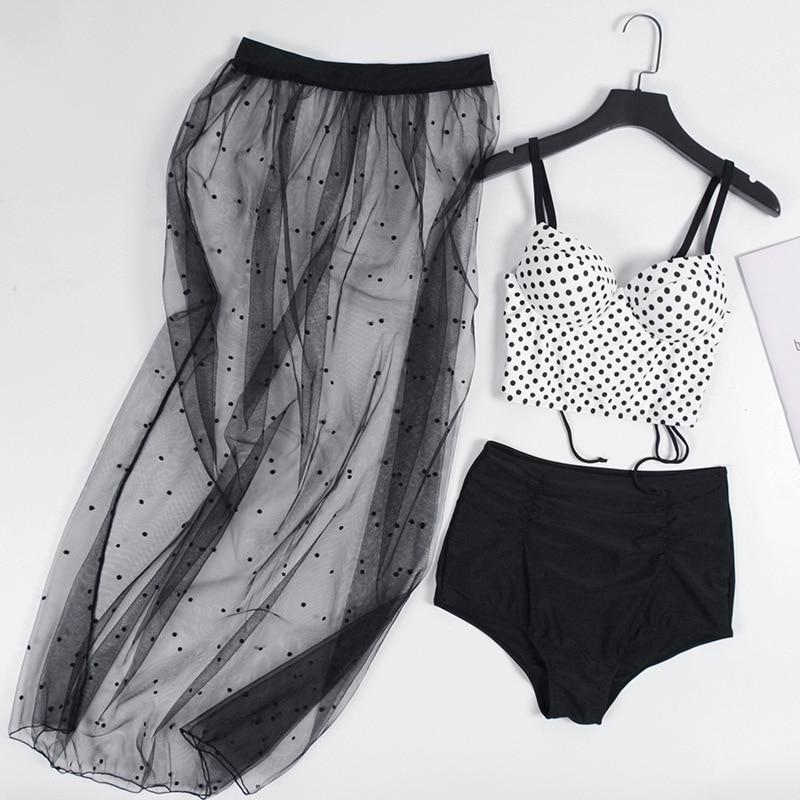 Bathing Panties For Women Rash Guard Swimming Suit Girls Woman Bikini 2019 Ins Web Celebrity Sexy Three Piece Dress Suits Female 1