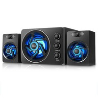 SADA D 209 With Colorful LED Light Desktop Computer Speaker With Subwoofer Perfect 2.1 Gaming And Multimedia PC Speakers