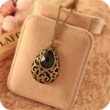 2017 Hot Selling Fantasy Black Drop Necklace Sweater Chain Free Shipping