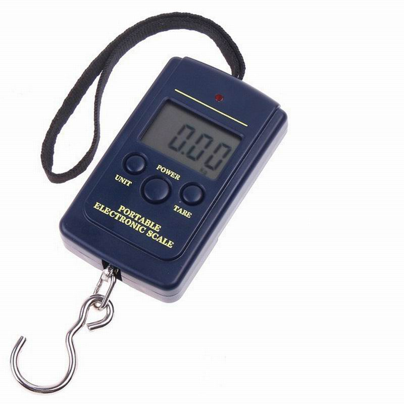 Hot Multifunctional Portable Mini 40kg/10g  Fishing Electronic Weighing  Balance Digital Scale Handy Pocket Weight Hook Scale 1