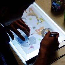 LED Light box drawing tablet Art Stencil Board Tracing Drawing Board tableta grafica USB Powered A4 Copy Station