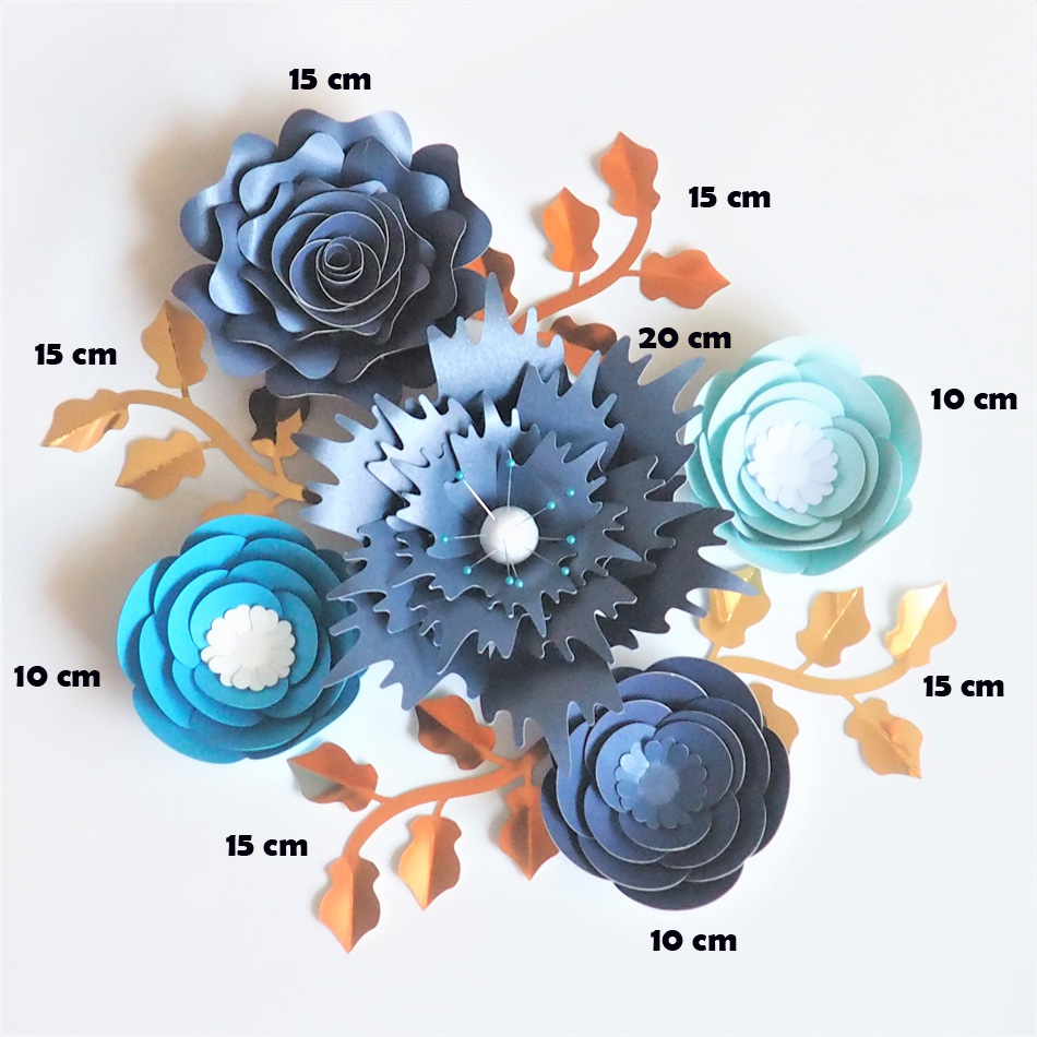 Image 2 - Handmade Cardstock Rose DIY Paper Flowers Leaves Set For Wedding & Event Backdrops Decorations Nursery Wall Deco Video Tutorials-in Artificial & Dried Flowers from Home & Garden