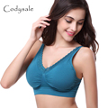 Codysale Women Casual Lace Bra Seamless Push Up Bra Adjustable Strap Crop Tops Padded Shockproof Bras for Women soutien gorge