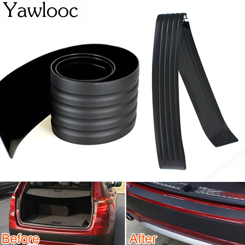 1 pc/lot Car Styling Door Sill Guard Car SUV Body Rear Bumper Protector Trim Cover Protective Strip Black protective pvc car bumper guard protector sticker white 2 pcs