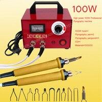 Free DHL 1PC Professional Electrocautery Pen Pyrography Machine STL Pyrograph Pen 100W 220V 110V For Gourd