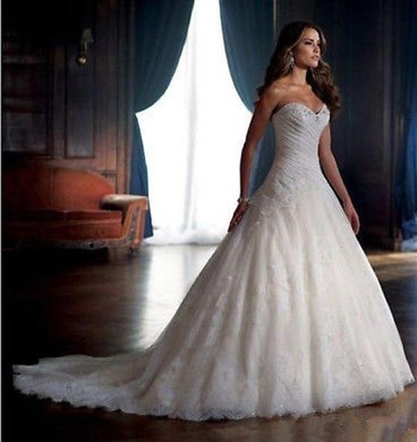 Glamorous Robe De Marie Princesse Corset Lace Wedding Dress Plus ...
