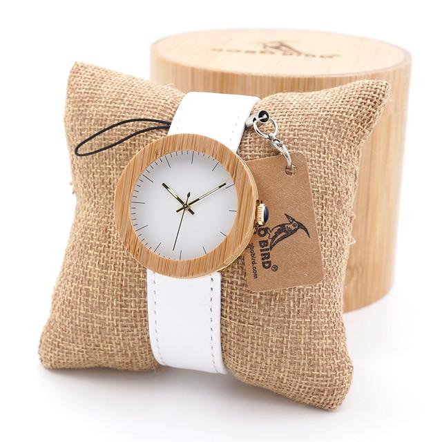 BOBO BIRD Women Watches Top Brand Design Wood Wristwatch for Womens Leather Band