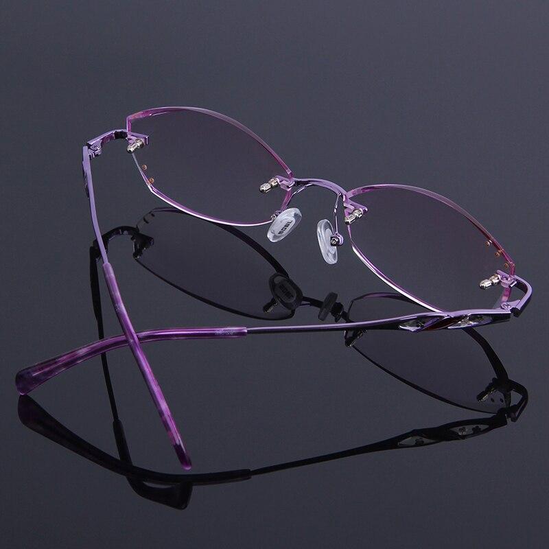 Randlose Beschichtung Lesebrille Brillen reflektierende Leser Anti Lila Mode De Gafas Presbyopie Strass Mujer Frauen ECvtwnqxS