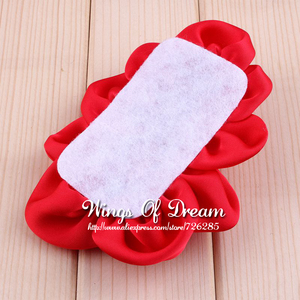 Image 3 - (120pcs/lot) 12 Colors Handmade Soft Lchthyosis Shape Fabric Headband Flower Artificial Wedding Decorative Flowers+Bling Buttons
