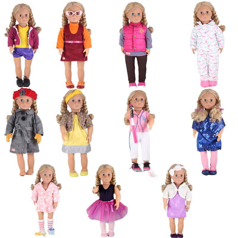 11 Kinds of Styles New Year Our Generation Holiday Doll Uniforms Doll Accessories For 18inch American girl doll Any 43cm Doll doll rose clothes fits for 18 american girl doll fashion swimsuit summer swimwear our generation doll bikini