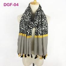 Very beautiful ladies cotton satin hijab soft fabric wraps long simple flower printed tassel muslim scarf shawl wholesale