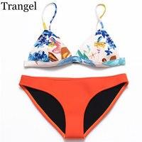 New Neoprene Sexy Bikinis For Women Bra Push Up Low Waist Hot Sale Swimwear Bottom Solid