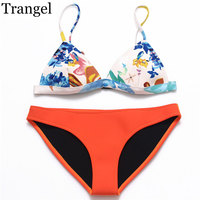 New Neoprene Sexy Bikinis For Women Bra Push Up Low Waist Hot Sale Swimwear Bottom Solid