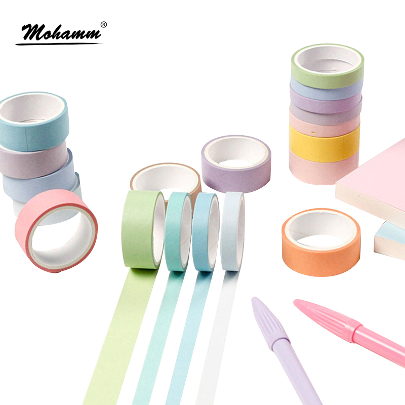 12 Pcs/lot Cute Rainbow Decorative Adhesive Tape Masking Washi Tape For Home Decoration Diary School Office Supplies Stationery flower bride new washi tape 4 3cmx5m office masking tape bullet journal decoration washitape cute stationary