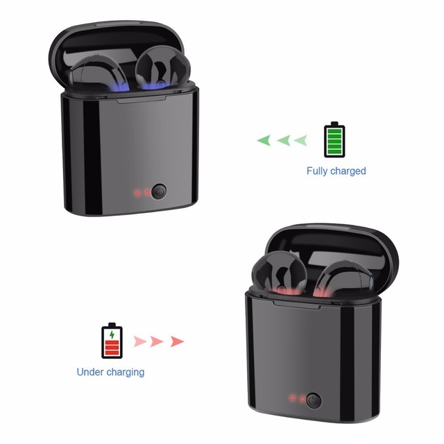 Free Shipping Bluetooth Headphone Wireless Headphone Headsets Stereo In-Ear Earphones With Charging Box for ios and Android