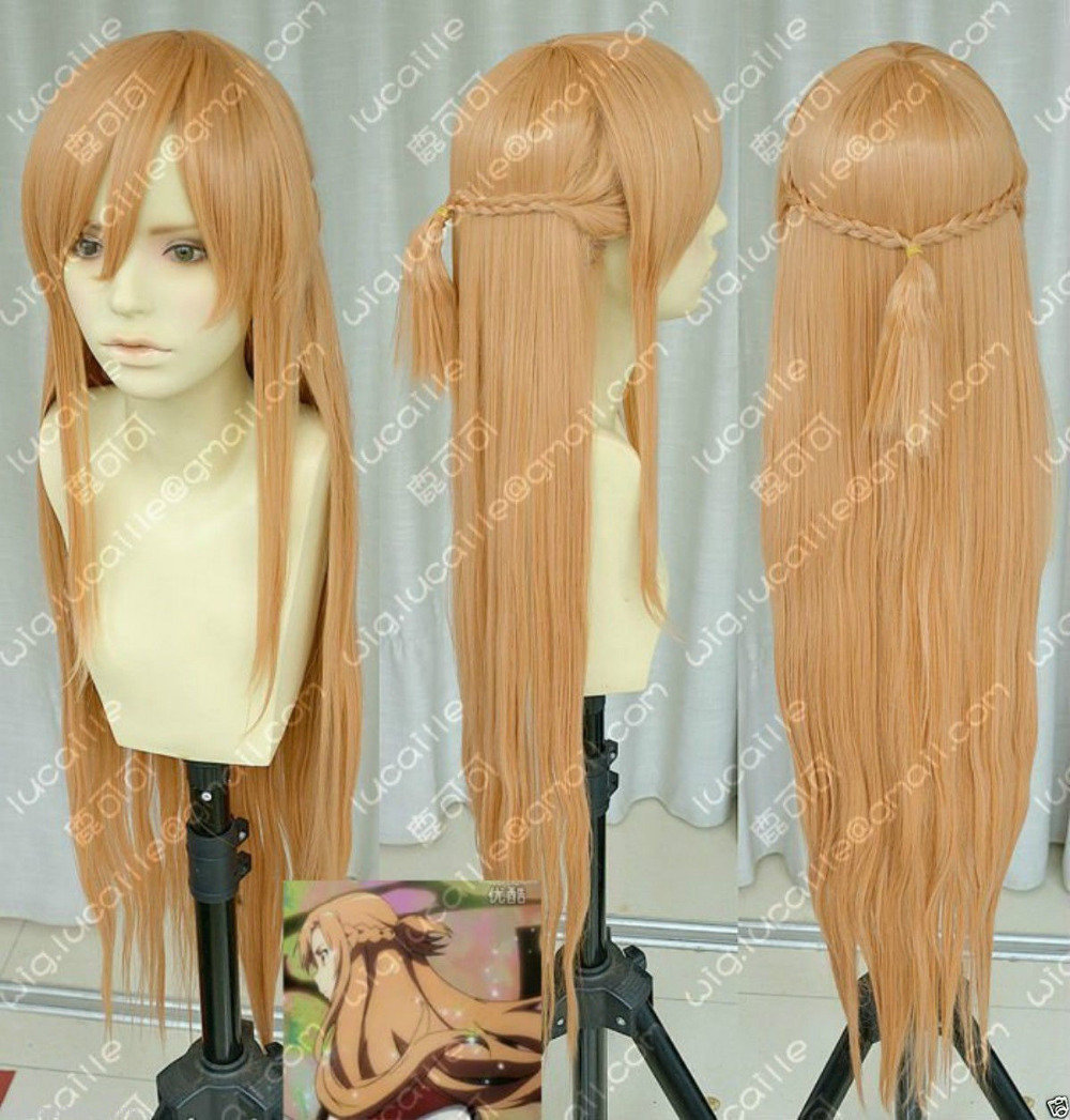 Cheap Price New Style Heat Resistant Party Cosplays Hair>>> >new Sword Art Online Asuna Yuuki Braid Cosplay Wig Elegant In Style