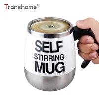 Transhome Automatic Self Stirring Coffee Mug 401 500ml Electric Smart Stainless Steel Mix Milk Cup Creative