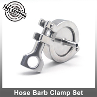 SS304 Or SS316L 3 8 Hose Barb Clamp Set Stainless Steel