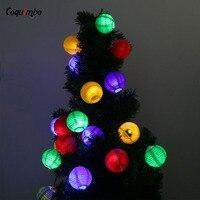 5M LED Solar String Light 20 LED Rattan Ball String Light Christmas Garden Party Holiday Wedding