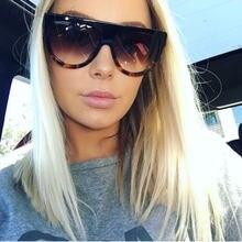 2e7956ec4ba79 Flat Top Classic 2016 Shadow Fashion Celebrity Women Sunglasse Brand  Designer Sun Glasses Lady Female Super star Oversize Shade