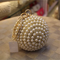Free Shipping Women Party Beaded Evening Bag Fashion Glitter Diamond Beads Ball Day Clutch Female Pearls Handbag Tote Bolsas