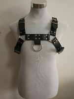 New Fashion Leather Style WRB982 Men Harness Bondage Beach Shoulder Chain Collar Choker Silver Necklace Jewelry