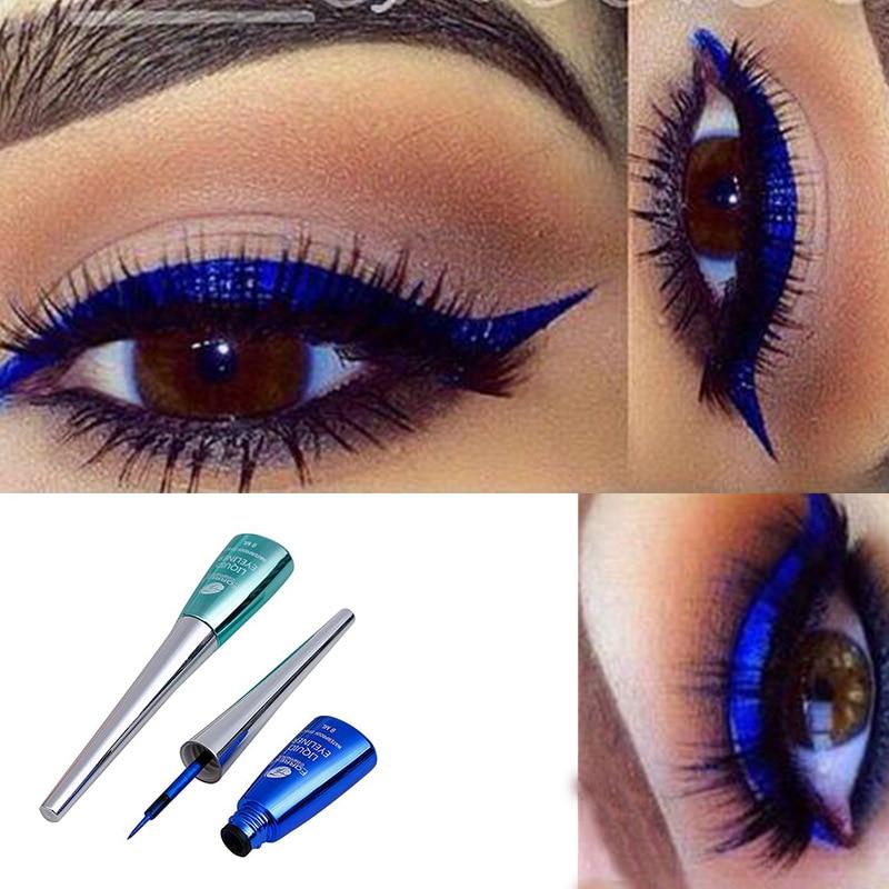 FaRRES Colorful Liquid Eyeliner Blue Waterproof Long Lasting Liquid Eyeliner Glitter Diamond Matte Eyeliner Gel Cosmetics AM035