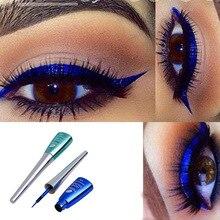 FaRRES colorful liquid eyeliner blue waterproof long lasting glitter diamond matte gel cosmetics AM035