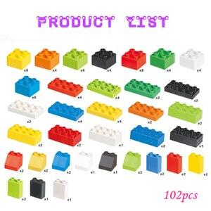 Image 5 - 102pcs Diy Duploed Building Blocks อิฐสร้างสรรค์ด้วยการศึกษาของเล่นเด็กคริสต์มาสของขวัญ