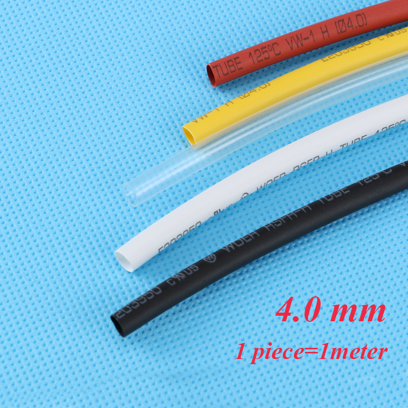 1m pcs 4mm Heat Shrink Tubing Wire Wrap Heat Shrink Tube 2 1 Thermo Jacket Insulation