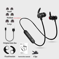 BoneRtop X3 Magnet Earphone Sports Wireless Bluetooth Headset Metal Earpiece Stereo HD Mic Headphone For IPhone