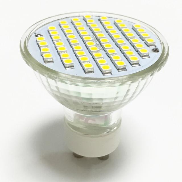 nieuwe led spotlight gu10 lamp 4 w ac 220 v 110 v hittebestendig glas body 3528