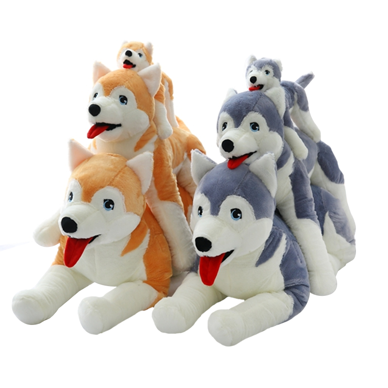 1pc 50cm Creative Gift for kids Kawaii dog Husky Plush Toys Stuffed Soft Animal Toys Doll Birthday Gift for Baby недорого
