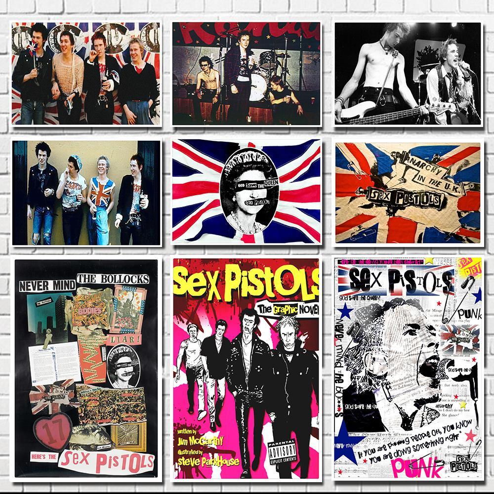 Sex Pistols/Rock Band /classic Nostalgic/Cafe/bar Poster/ White Kraft Paper Poster/decorative Painting
