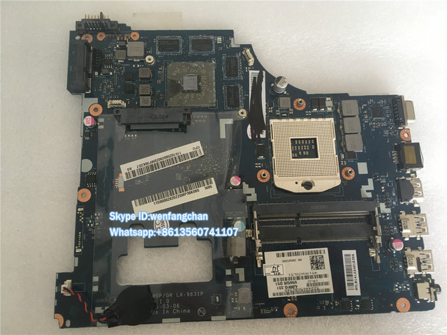 Бесплатная доставка Высокая доставленных Материнской Платы Ноутбука Для Lenovo G500 VIWGP/GR LA-9631P Материнская Плата с 8 Vga чипсетов