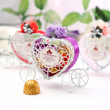 Candy box Favours Birthday Party Heart Carriage Wedding Metal Chocolate Box Gift  Sweet Love New