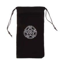 THOSSTII бархатная пентаграмма Таро сумка для хранения карт игрушка Домашняя мини-Посылка на шнурке для игральных карт
