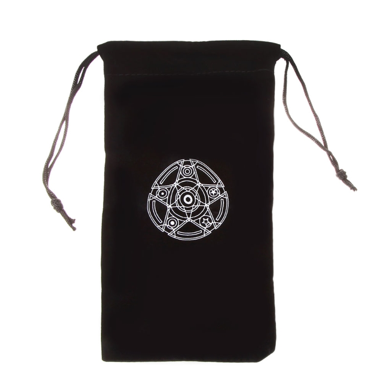 THOSSTII Velvet Pentagram Tarot Card Storage Bag Toy Home Mini Drawstring Package For Playing Cards